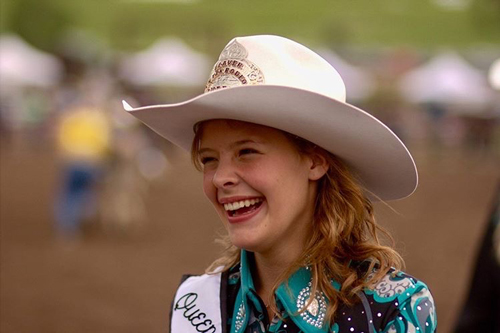Brielle Kromer riding in rodeo