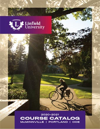 Cover of 2020-21 Linfield University Catalog