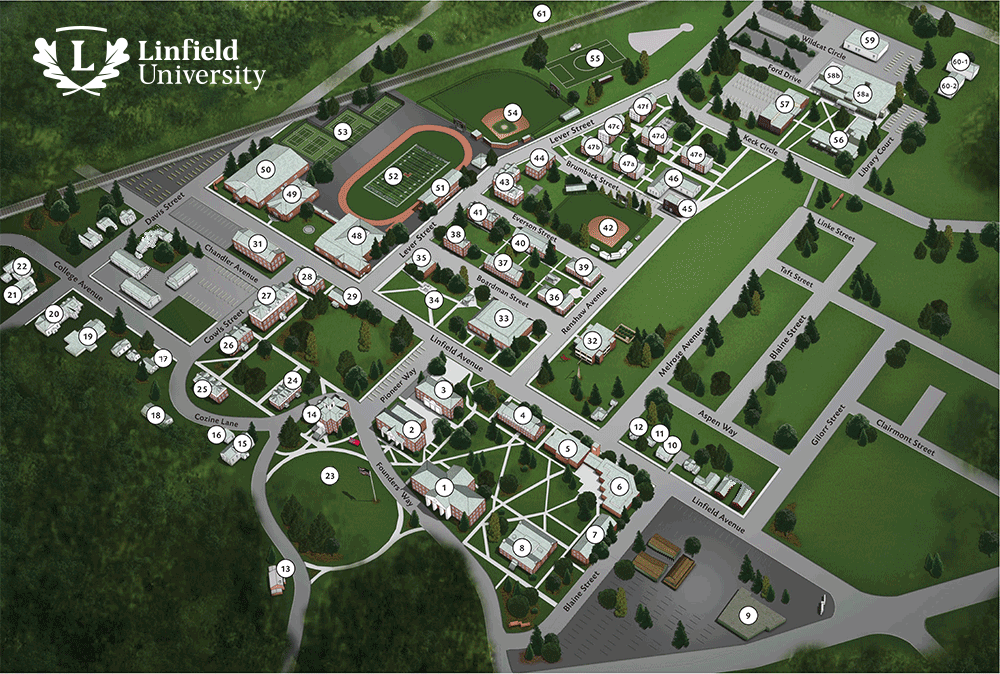 Mcminnville Campus Map Linfield College