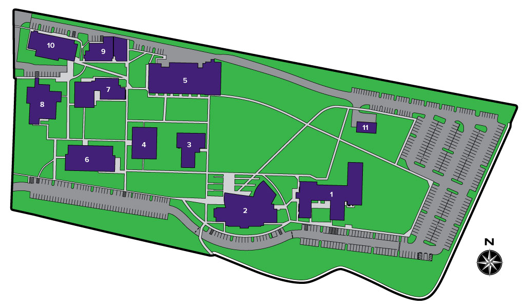 Map of the new Portland campus